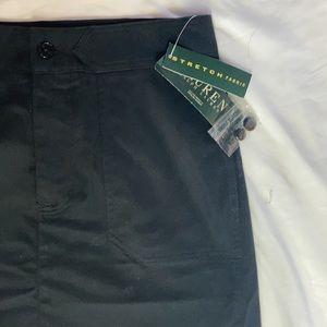 NWT Lauren Ralph Lauren Black Skirt sz 6